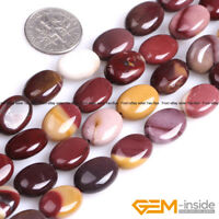 "Natural Multi-Color Mookaite Jasper Gemstone Oval Beads For Jewelry Making 15""YB"