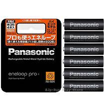 6 Panasonic Eneloop Pro High End Batteries 2500 mAh AA Made in Japan and Ni mh