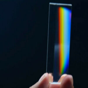 Cedilis 2 Pack 6 Inch Light Optical Glass Crystal Triangular Prism Unique Photography Science Physics Teaching Rainbow Maker for Light Refraction Spectrum Learning
