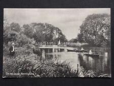 Cambridgeshire: Huntingdon On The Ouse showing Man Fishing & Rowing Boats c1908
