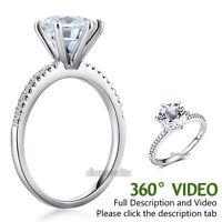 14K White Gold Wedding Engagement Ring 2 CT Topaz 0.12 CT Natural Diamond