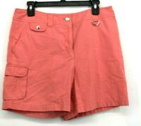 Jones New York Womens Salmon Sport Shorts Zip Fly Cotton Slash Pockets Size 10