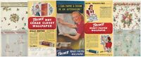 1950s Trimz Ready Pasted & DDT Cedar Closet Insecticide Wallpaper Color Brochure