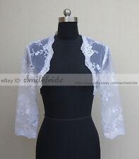Three-quarter Sleeve Lace Bridal Jacket Bolero shrug S, M, L, XL, 2XL, 3XL