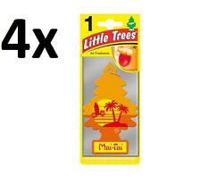 4x Magic Tree Little Trees Car Home Air Freshener Scent - MAI TAI