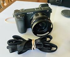 Sony Alpha A6500 24.2MP Digital Camera - Black (Kit with 16-50mm Power Zoom...