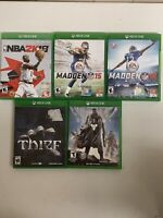 Xbox One Game Lot (5) NBA 2k18 Madden 15 16 Thief Destiny