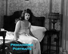 """PRISCILLA DEAN 8X10 Lab Photo B&W 1920 RARE """"OUTSIDE THE LAW"""" Boudoir Nightgown"""