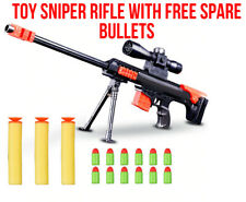 NEW Nerf Gun Sniper Rifle Strike Toy Bundle With Spare Bullets Kids Gift Weapon