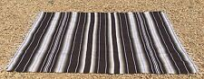 "Mexican Blanket Sarape Multi-Color Brown #2  ""84x60"" Made in Mexico."