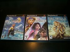 Final Fantasy X  X-2  XII  3 Game LOT PlayStation 2 Complete Great Condition PS2