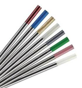 5 x TIG Welding Tungsten Electrode 1.6mm x 150mm  RED, WHITE, GOLD, GREY ect.