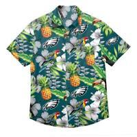 Philadelphia Eagles Mens Button Down Shirt Floral Hawaiian Parrot NFL Football