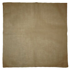 "Wholesale Lot of 12 Dark Khaki Plain Solid Color 100% Cotton 22""x22"" Bandana"