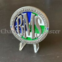 D9 NYPD BUILDING MAINTENANCE Section Police CHALLENGE COIN Serialized