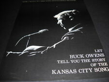 BUCK OWENS Tells You The Story Of KANSAS CITY 1970 Promo Poster Ad mint cond