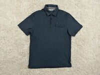 Travis Mathew Pima Cotton Rayon Polo Shirt Men Large Blue Pocket Golfer