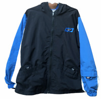 Nike Youth Size 7 Full Zip Windbreaker Mesh Lined Hooded Jacket Black Pockets