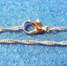 "3Pcs. Tibetan NECKLACE Chains 16""  Dark Silver-Plated 1mm Twist Look N01"