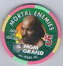 MGM Grand $5.00 Bowe VS Gonzalez Boxing Casino Chip Mortal Enemies Las Vegas