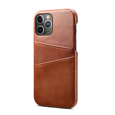 Luxury Premium Leather Case For iPhone 11 12 Pro Credit Card Holder Back Cover
