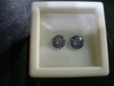 Natural Tanzanite Round 5mm Match Pair Lot of 2 Stones Great Color #EB1047
