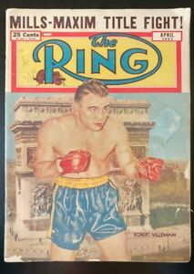 The RING, Boxing Magazine w/ Robet Villemain Cover (April 1950 #3) ~ GD