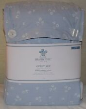 Rachel Ashwell Simply Shabby Chic King Sheet Set Country Cottage Rose Buds Blue