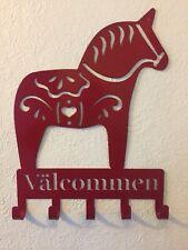 Dala Horse Metal Art Hooks
