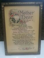 Vintage Framed Mother Dear Fairmont Snyder  Reinthal & Newman 176 M.J. Exner