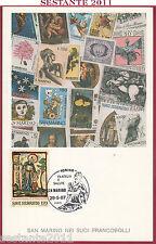 ITALIA MAXIMUM MAXI CARD FILATELIA E SALUTE 1987 SAN MARINO POSTE B505