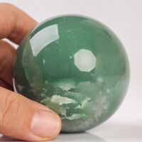 347g 63mm Natural Green Aventurine Sphere Quartz Crystal Healing Ball Chakra