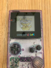 Nintendo Game Boy Color Violett Transparent mit BACKLIGHT - TOP ZUSTAND