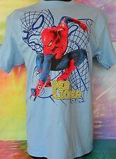 Marvel The Amazing Spider-Man Web Slinger Men's Blue's T-Shirt Size Large