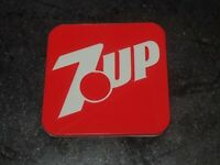 "Vintage 3"" 7up Soda Sign Replica Fridge Magnet 3D Printed Advertising Soda 7 Up"