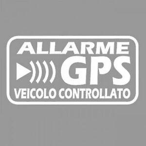 ADESIVI STICKERS ALLARME GPS ANTIFURTO SATELLITARE CONTRO I FURTI AI VEICOLI