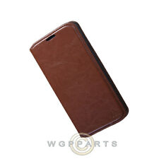 Nexus 6 Wallet Pouch Brown Case Cover Shell