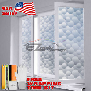 【Frosted Film】 Glass Home Bathroom Window Security Privacy Sticker #5045