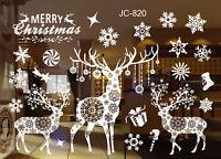 2x Merry Christmas Elk Girlande Glas Fenster Sticker PVC Home Party Deko 60*90cm