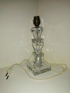 Baccarat Pied de lampe en bloc cristal