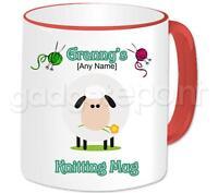 Personalised Knitting Mug Birthday Christmas Gift Idea For Knitter Any Name