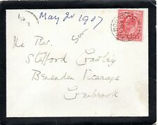 1907 Sg 219 scarlet on cover with scarce Flax Bourton (Somerset) cancellation