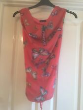 BNWT Ladies M/L Pink Butterfly Top