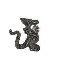 SCM Pewter Dragon Holding Crystal D&D Vintage Figurine