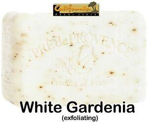Pre de Provence WHITE GARDENIA 250 gram French Soap Bath Shower Bar Shea Butter