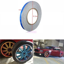 Blue1CM X 45M SAFETY REFLECTIVE TAPE ROLL STRIPE SELF-ADHESIVE FOR CARS/TRUCKS