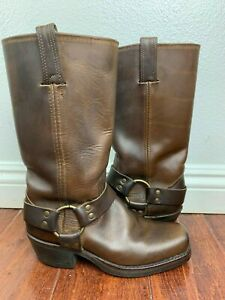 Frye Women's Brown Distressed Leather Harness Boots Size 6 M