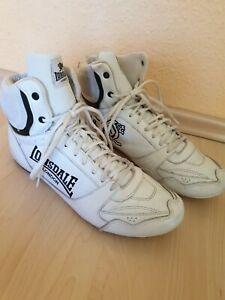 Lonsdale Herren Weiß Cruiser Hi Top Boxerstiefel Schuhe Leder