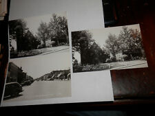 SPRING VALLEY IL - 3 OLD RPPC REAL-PHOTO POSTCARDS - ST PAUL ST - CHURCH