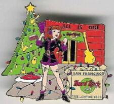 Hard Rock Cafe SAN FRANCISCO 2002 CHRISTMAS PIN Tree Lighting Sexy Girl #15688